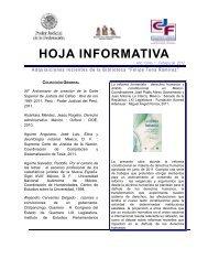 HOJA INFORMATIVA - Instituto de la Judicatura Federal - Consejo ...