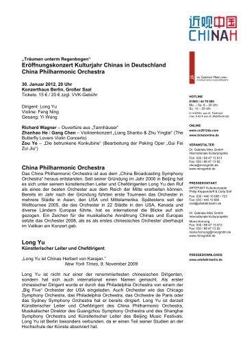 Eröffnungskonzert Kulturjahr Chinas in Deutschland China ...