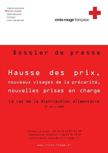 Croix-Rouge française - Crise alimentaire - dossier de presse
