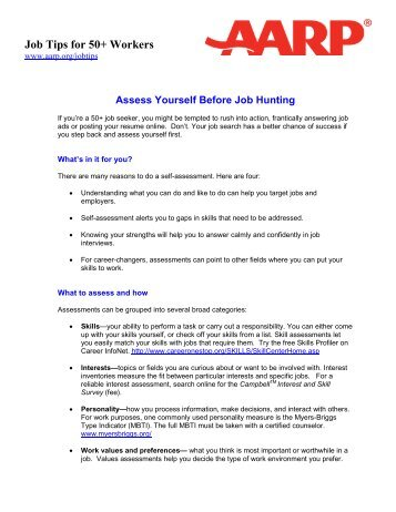 jobs.aarp.org - Home | Job Search, Work Resources and ...
