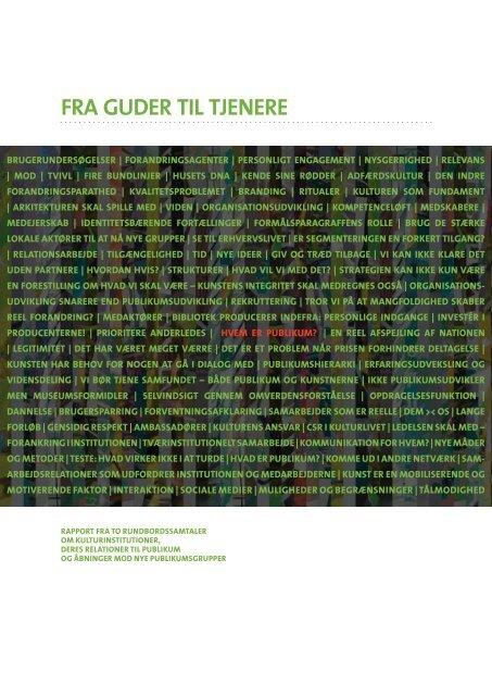 FRA GUDER TIL TJENERE - Center for Kunst & Interkultur