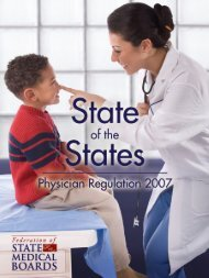 State of the States - Federation of State Medical Boards
