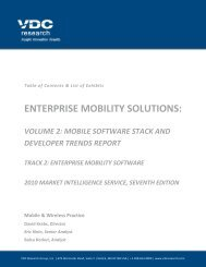 Mobile Software Stack and Developer Trends - VDC Research
