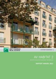 Rapport annuel - AV Habitat 2 - 2011 - BNP Paribas REIM