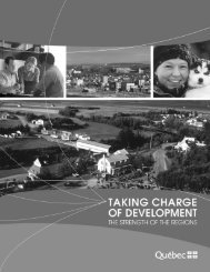 Taking charge of development - The strength of ... - Conseil exécutif
