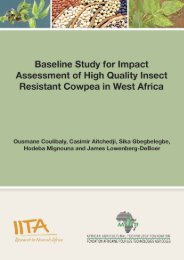 Baseline Study for Impact Assessment - African Agricultural ...