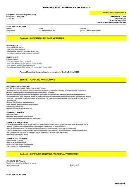 color+ wu016 flushing solution - FUJIFILM Australia