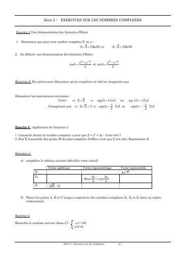 Série 5-les-complexesFichier PDF - e-nautia