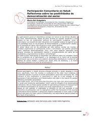 Participación Comunitaria en Salud - Facultad de Ciencias Sociales