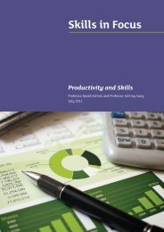 Productivity and Skills paper - Skills Development Scotland