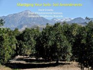 Managing Your Soils: Soil Amendments - Citrus Research Board