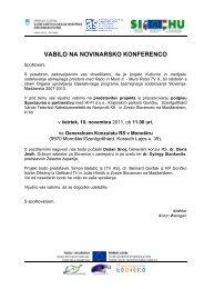 VABILO NA NOVINARSKO KONFERENCO
