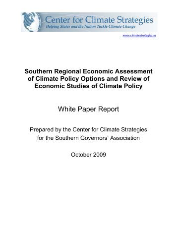 Southern Regional Economic Assessment of Climate Policy Options ...