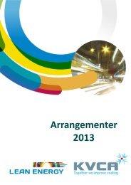Arrangementer 2013 - Lean Energy