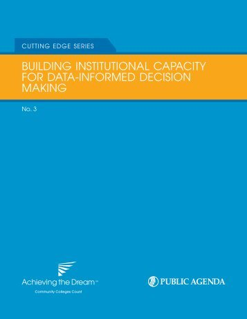 building institutional capacity for data-informed decision making