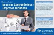 Negocios Gastronómicos y Empresas Turísticas - Universidad La ...