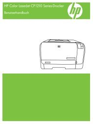 HP Color LaserJet CP1210 Series Printer User Guide - DEWW