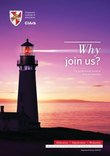CIArb Membership Brochure.pdf - Chartered Institute of Arbitrators