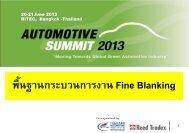 ชิ้นส่วนที่ผลิตโดย Fine Blanking - Thailand Automotive Institute