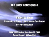 The Outer Heliosphere - Nasa
