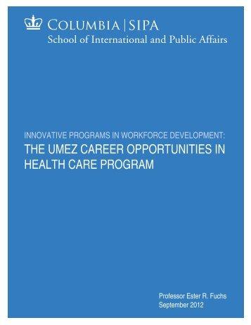 Innovative Programs in Workforce Development: The UMEZ Career ...