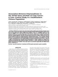 Association between polymorphisms in the GSTA4 gene and risk of ...