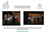 13.12.2009 Adventskonzert im Ehrenhof vorm Schloss