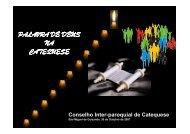 PALAVRA DE DEUS NA CATEQUESE - Diocese de Braga