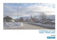 STEDSANALYSE FOR SAND I NORD-ODAL - Nord-Odal Kommune
