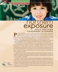 Acute Pesticide Poisonings in Canada - David Suzuki Foundation