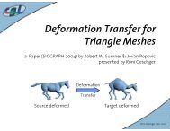 Deformation Transfer for Triangle Meshes