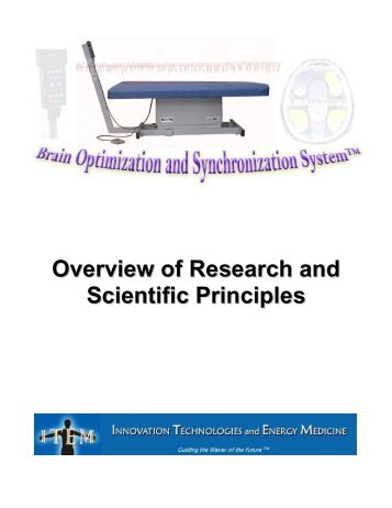 Overview of Research and Scientific Principles