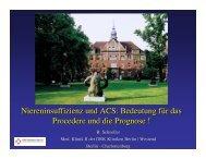 Niereninsuffizienz und ACS - Berliner Herzinfarktregister