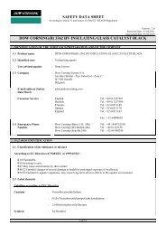 SAFETY DATA SHEET DOW CORNING(R) 3362 HV ... - Geocel