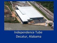 Independence Tube Decatur, Alabama The Phoenix Project - NASPD