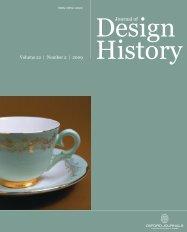 Front Matter (PDF) - Journal of Design History