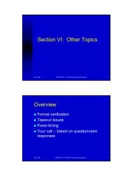 Section VI: Other Topics Overview - UCSD VLSI CAD Laboratory