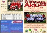 Ausgabe 2 -  Juni 2008 - SV 1936 Saasen