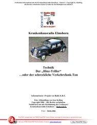"""Krankenhausradio Elmshorn Technik Der """"Hinz-Triller"""" …oder der ..."""