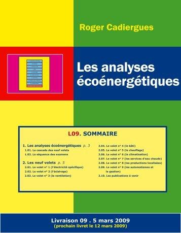 1. les analyses écoénergétiques