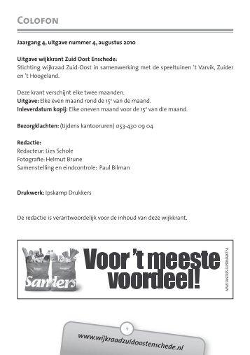 2010 Augustus - Wijkraad Zuid-Oost Enschede