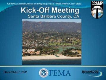 Santa Barbara Kick Off Meeting Presentation - FEMA Region 9