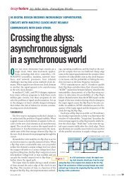 Crossing the abyss: asynchronous signals in a synchronous world