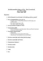 Kredsformandsberetning ved Thy - Mors Lærerkreds ...