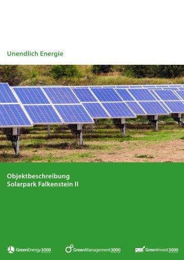 Exposé Solarpark Falkenstein II - ge3000.de