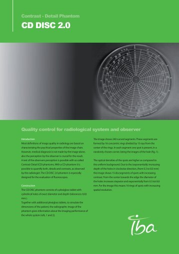CD DISC 2.0 - IBA Dosimetry