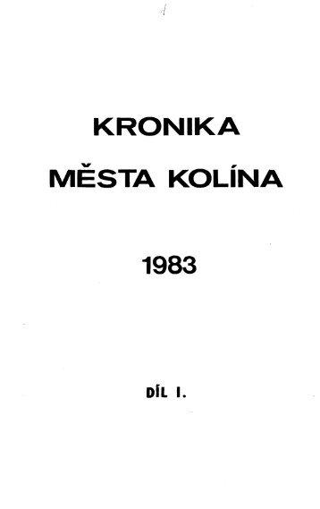 Kronika 1983 I - Kolín