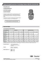 Membran-Kompakt-Druckmittler mit frontbündiger ... - Baumer