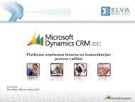 Platforma uzņēmuma biznesa un komunikācijas procesa vadībai