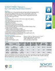 PYRAN ® Platinum L Data Sheet - SCHOTT North America